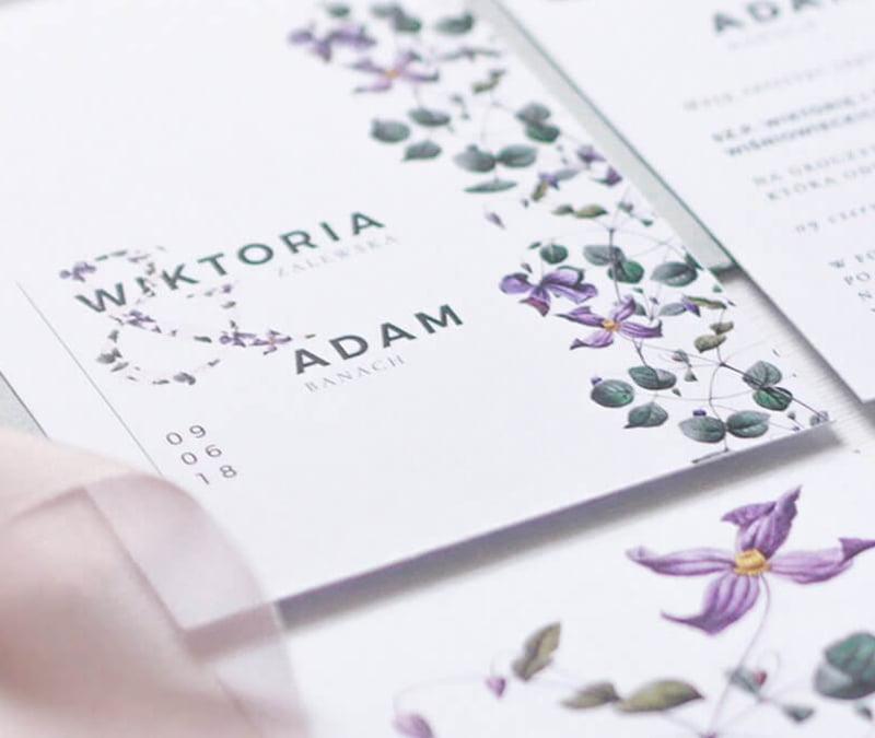 Flora – Oryginalne Zaproszenia Ślubne Wrocław