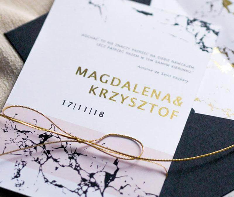 Modern marble – Oryginalne Zaproszenia Ślubne Wrocław